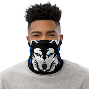 Blue Logo Facemask - Black