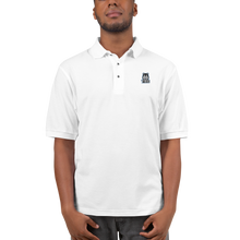 Load image into Gallery viewer, Blue Logo Men's Premium Polo