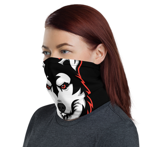 Red Logo Face Mask - Black