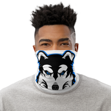 Load image into Gallery viewer, Blue Logo Facemask - White