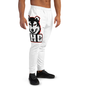 White/Red Logo Joggers