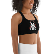 Load image into Gallery viewer, Red Logo Sports bra - Black