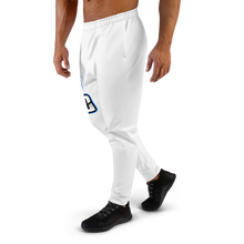 Load image into Gallery viewer, White/Blue Logo Joggers