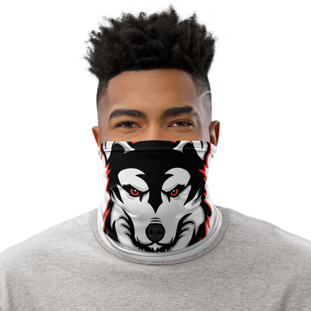 Red Logo Face Mask - White