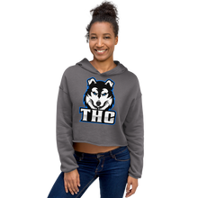 Load image into Gallery viewer, Blue Logo Crop Hoodie