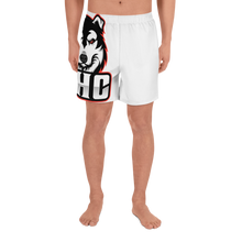 Load image into Gallery viewer, Red Logo Men's Athletic Long Shorts - White
