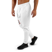 Load image into Gallery viewer, White/Red Logo Joggers