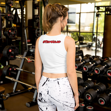 Load image into Gallery viewer, Red Logo Crop Top - White