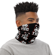 Load image into Gallery viewer, Red Logo Pattern Face Mask - Black