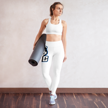 Load image into Gallery viewer, Blue Logo Leggings - White