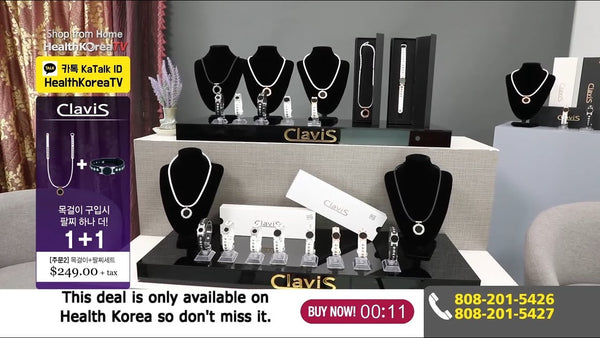 Health Korea TV | Clavis Energetic Magnetic Health Bracelet & Necklace | 클라비스 에너제틱 건강팔찌 목걸이
