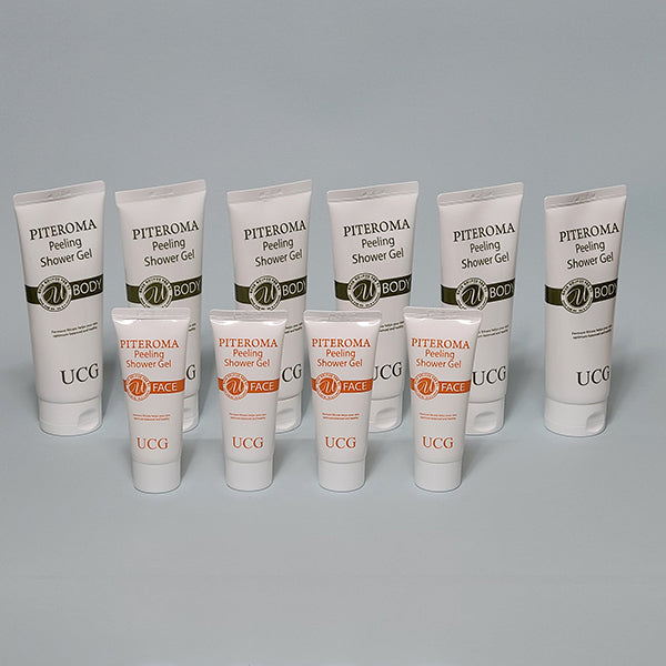 PITEROMA Peeling Shower Gel Set (10pcs)