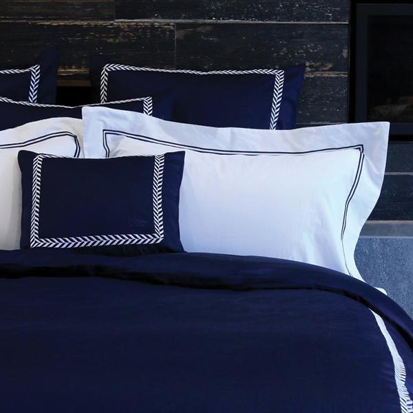 Duvet Cover Set Daphness Collection, Navy (QUEEN)