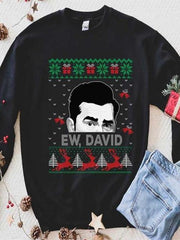 Ew David Christmas Crew Neck Sweater
