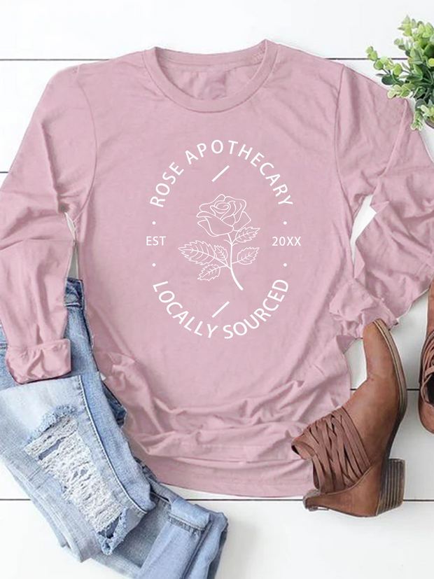 Rose Apothecary Long Sleeve Blouse