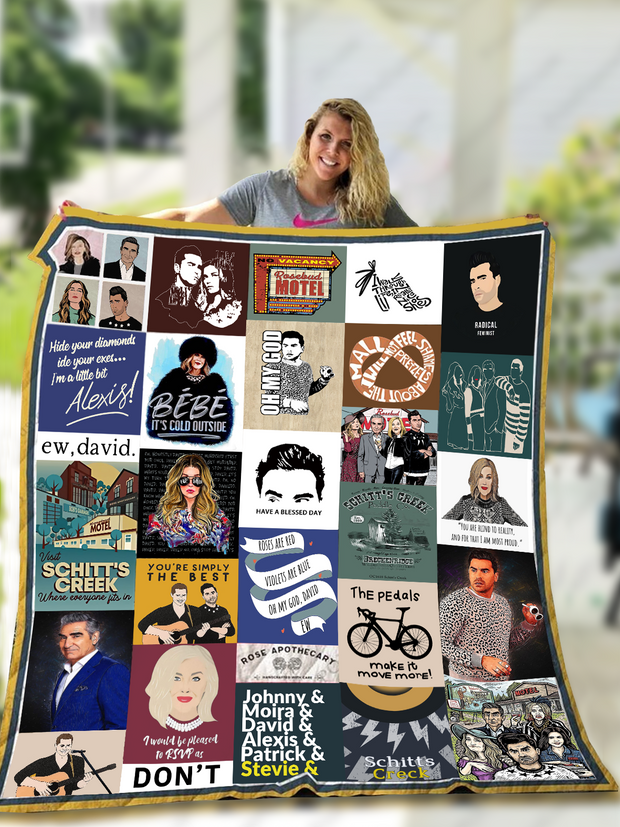 Schitt's Creek Quilt Blanket