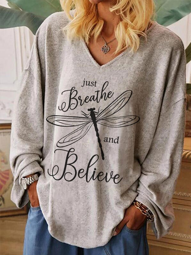 Just Breathe And Believe Blouse