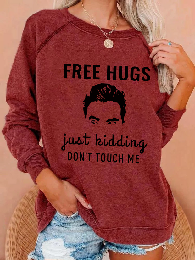 Free Hugs Long Sleeve Blouse