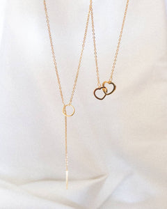 Bar Lariat & Heart Lock