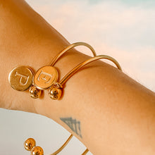 Load image into Gallery viewer, Pangako Bangle w/ personalised letter charm