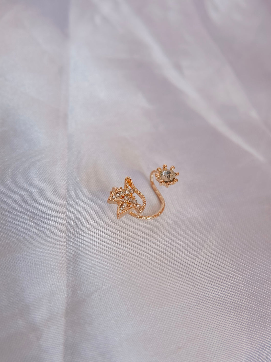 Dove and Diamond Ear Cuff