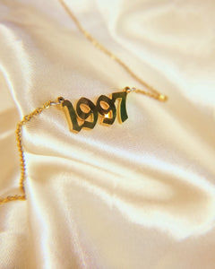 Personalised Birth Year necklace (1991-2000 only)