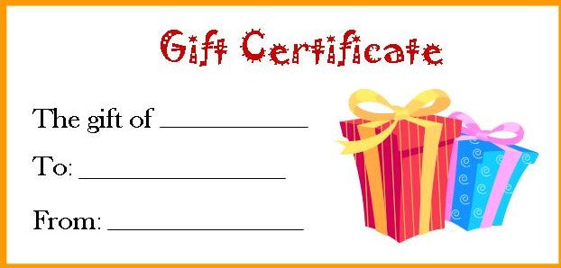 Dilly Dally's Gift Certificate