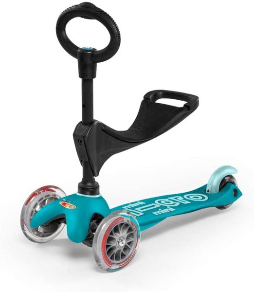 Deluxe Aqua 3-in-1 Mini Kickboard Scooter