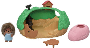 Baby Calico Hedgehog Hideout Set
