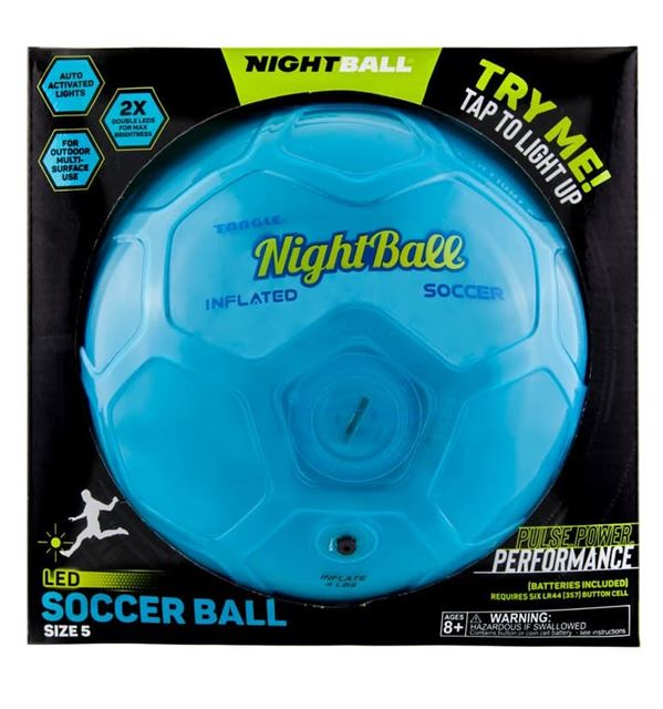 Nightball Tangle LED Light Up Soccer Ball Blue