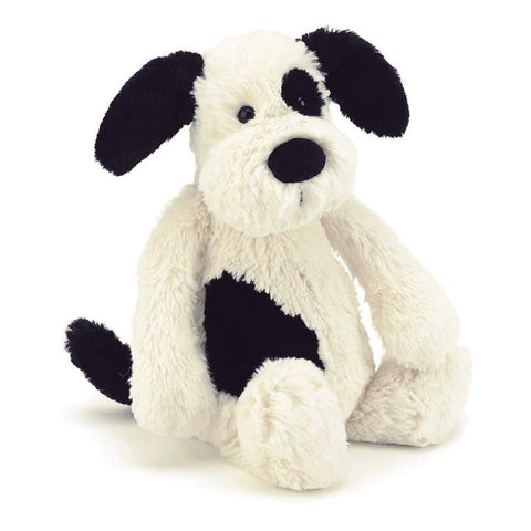 Bashful Black and Cream Puppy Jellycat