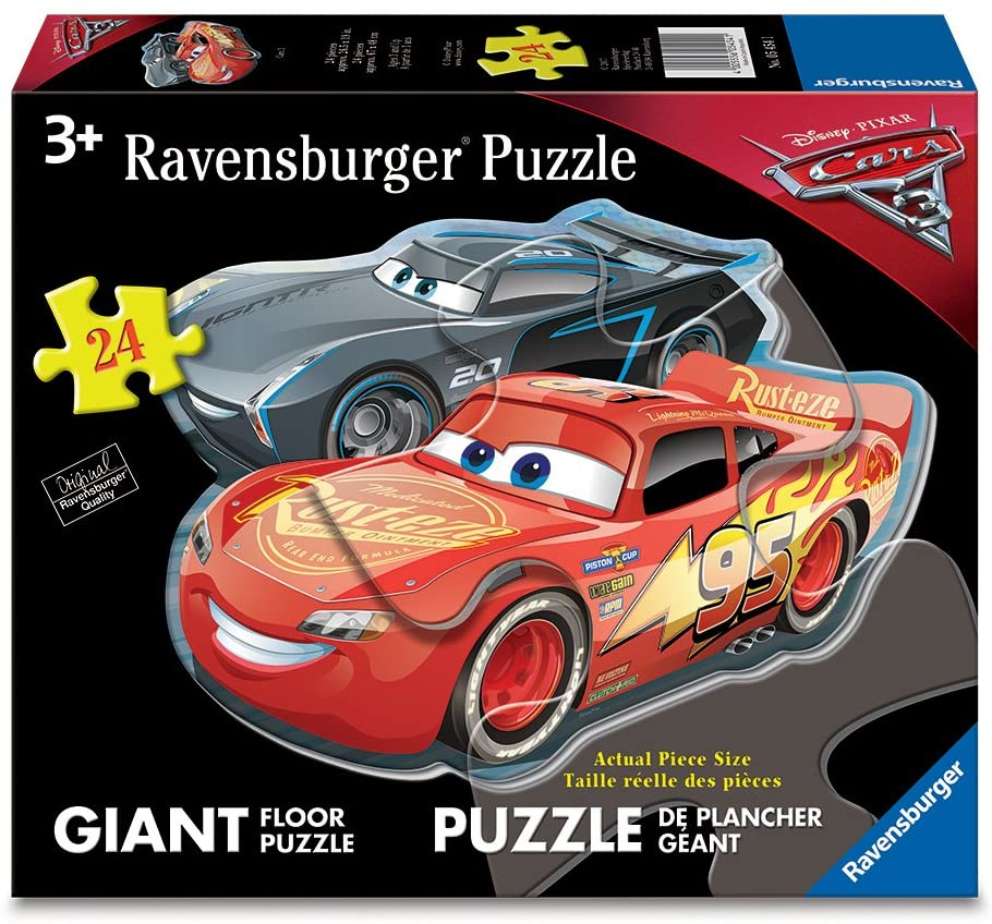 Disney Cars 3 Dueling Cars Shaped 24pc Floor Puzzle
