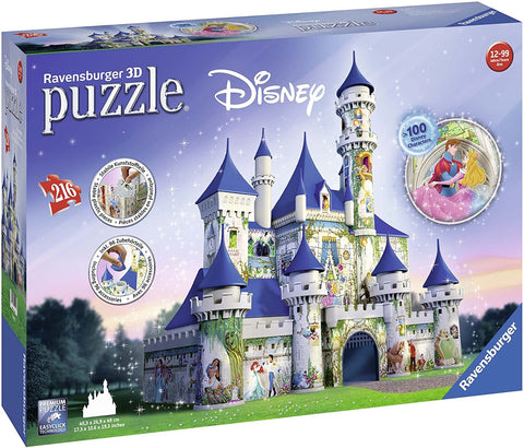 Disney Castle 216 Piece 3D Jigsaw Puzzle for Kids and Adults