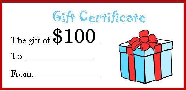 Dilly Dally's $100 Gift Certificate