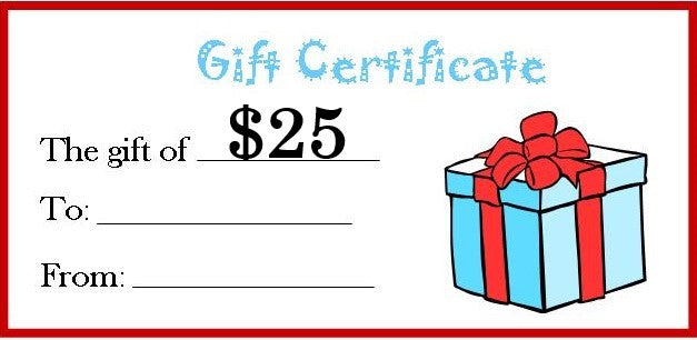 Dilly Dally's $25 Gift Certificate