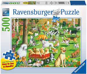 At the Dog Park Large Format Puzzle 500pc