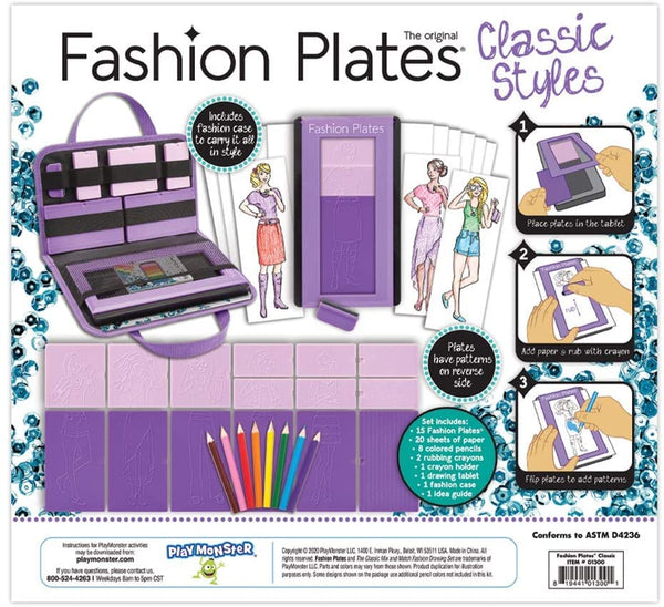 Fashion Plates Deluxe Kit Classic Styles