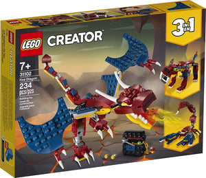 Fire Dragon Lego Creator 3 in 1