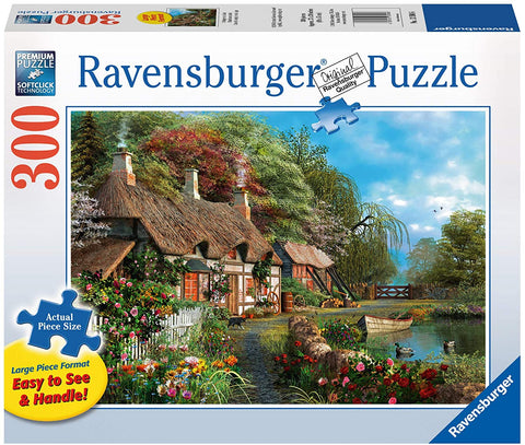 Cottage on the Lake 300pc Large Format Jigsaw Puzzle
