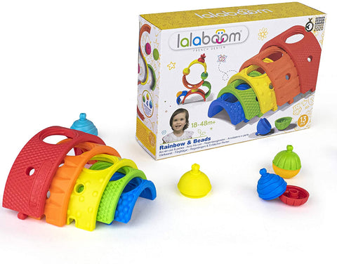 LalaBoom Rainbow and Beads 13pc Set