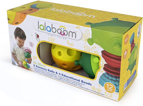 LalaBoom Sensory Balls and Beads 12pc
