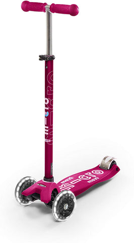 MAXI Kickboard Deluxe Scooter LED PINK