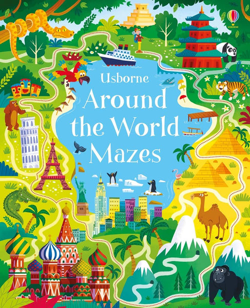 Around the World Mazes Book