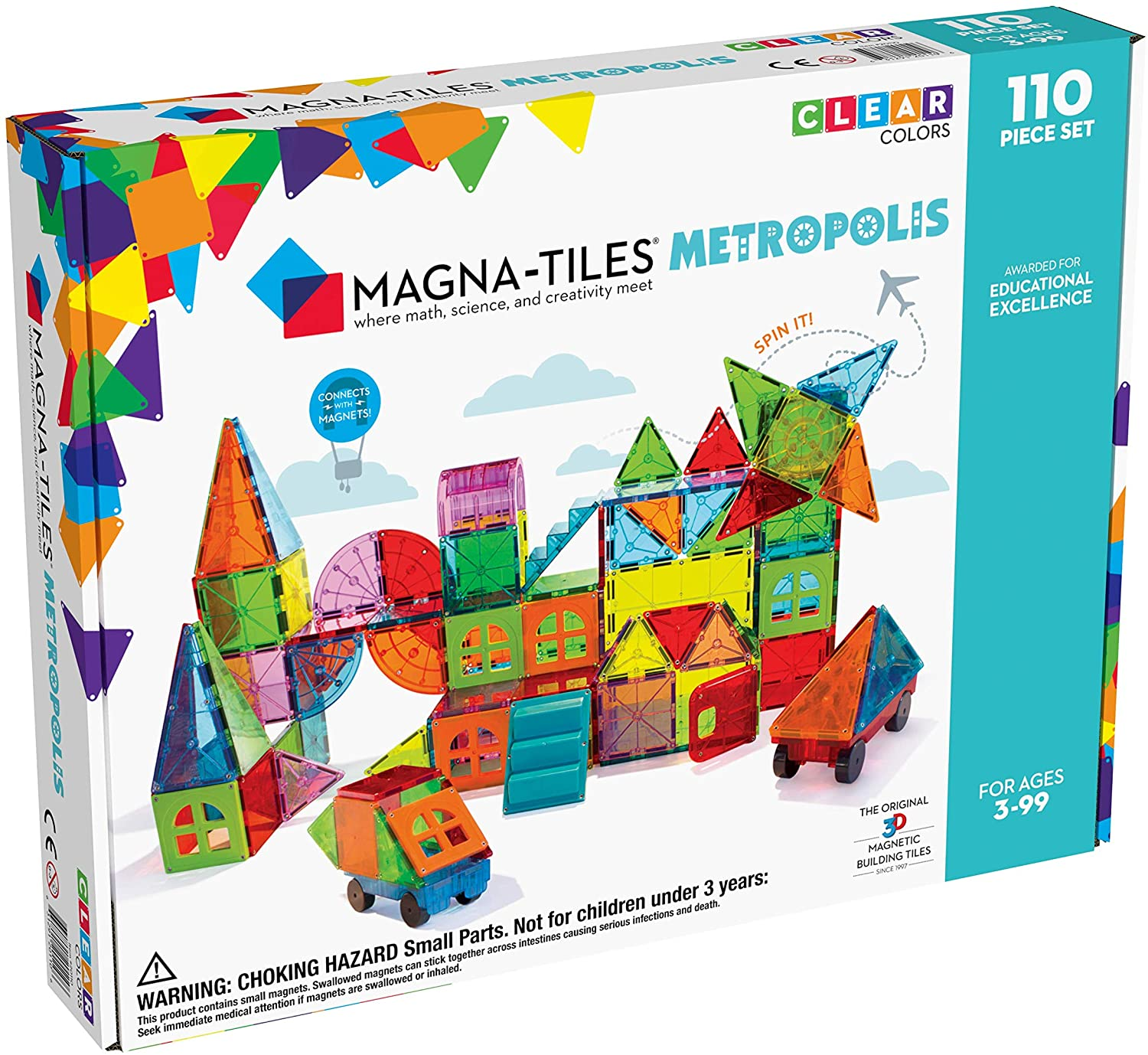 Magnatiles Metropolis Set 110pc