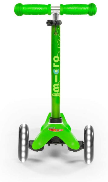 Mini Kickboard Scooter Deluxe LED Green