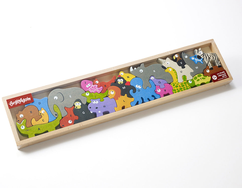 Animal Parade Wood A to Z Puzzle and Playset