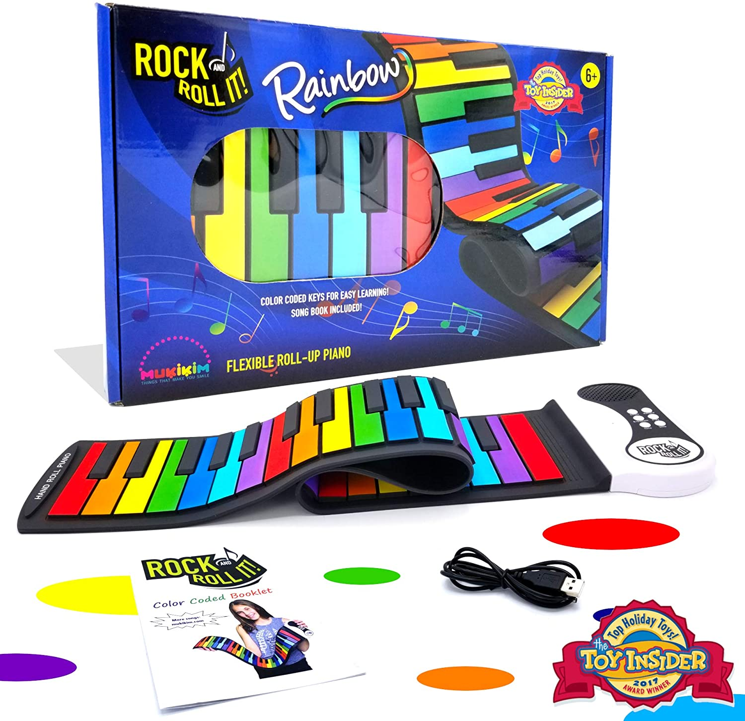 Rock and Roll Piano Mat Rainbow