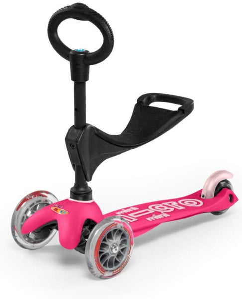 Deluxe Pink 3-in-1 Mini Kickboard Scooter