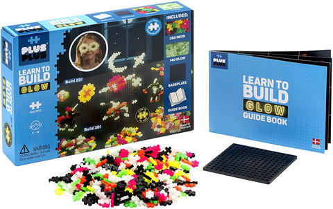 Plus Plus LEarn to Build Kit GLow in Dark 400pc