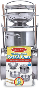 Pots and Pans Play Set 8pc